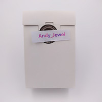 ingrosso contenitore di monili dell'anello di carta-Commercio all'ingrosso squisito mini scatola di carta bianca di alta qualità confezione regalo 9 * 6 * 3 cm per gioielli stile pandora charms perline anelli borse imballaggio