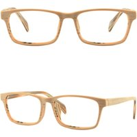 Imitación De Marco De Madera Gafas Baratos-Light Mens Womens Frame Plastic Glasses Eyeglasses Rectangle Acetate Wood Imitation