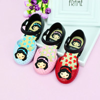Wholesale Korean Shoe Girls - Snow white Princess Children's Jelly Shoes Korean version of the lovely princess shoes wholesale, 2017 summer new girl sandals