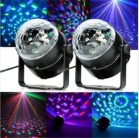 Wholesale Order Led Decor - Magic Ball Lamp Mini Crystal Sound Control Colorful Led Light DJ Stage Disco Compact Lamps Party Decor Club Trial Order 18ba D R