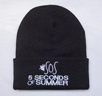 Wholesale Mens Cotton Beach Tops - 5 seconds of summer 5SOS Black beanies hats knitting caps Quality headwear knitted street hat mens women fashion snapbacks 20000 styles HF