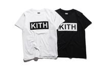 soğutma giyim toptan satış-Erkekler Giyim Yaz Erkek T-Shirt KITH Moda Mektuplar Baskılı Tee Serin Kısa Kollu Ekip Boyun Tees Adam Kadınlar Beyaz Siyah Tops