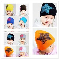Wholesale Toddler Purple Hat - Infant Winter Star Hats New Unisex Baby Boy Girl Toddler Infant Children Cotton Soft Cute Hat Cap Winter Star Hats Baby Beanies Accessories
