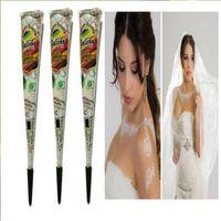 белая татуировка хны оптовых-Wholesale-Henna tattoos white paste face painting henna body paint pigments henna tattoo pen plant in India wedding party