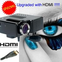 pequenos projetores usb venda por atacado-Atacado-Portátil Mini LED Projetor de Vídeo de Baixo Custo HDMI Projetor USB Construído Em Speaker Beamer Pequeno Tamanho do Jogo de Entretenimento Projektor