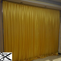 Wholesale backdrop backgrounds for sale - Group buy 3M high M wide wedding curtain black backdrop color Party Curtain Celebration draps Performance Background Satin Drape wall valance