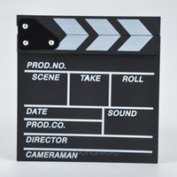 Direttore Video Clapboard acrilico asciutto Cancellare TV Film Film Clapper Board Slate con bastoni colorati 20 * 20cm