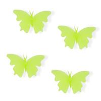 ingrosso adesivi farfalla per i bambini dei muri-Fai da te farfalla adesivo da parete per bambini camera glow in the dark adesivi murali home decor soggiorno fluorescente poster LF-038