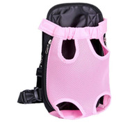 Wholesale Pet Backpack Carriers - Pet The chest bag Multi Function Go Out Portable Backpack Small Dog Cat Carrier Net Cloth Canvas Four Feet Bags 27mk I R