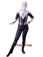 TV & Movie Costumes spider girl halloween costume - 2017 Spider Man Homecoming Gwen Stacy Cosplay Costume D Printed Spiderman Homecoming Spandex women Girls Suit