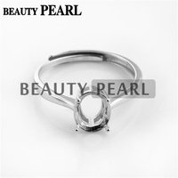 Wholesale Gemstones 8mm Faceted - Bulk of 3 Pieces Ring Setting for 6*8mm Oval Cabochons or Faceted Gemstones 925 Sterling Silver Ring Base