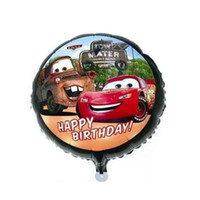 Wholesale Birthday Party Decorations For Children - 18 inches car balloons aluminum foil helium balloons for kids children birthday party decoration inflatable toys globos, baloes aniversario