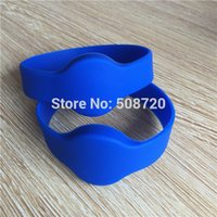 Wholesale rfid silicone bracelet for sale - Group buy eco friendly khz EM4100 round head Waterproof silicone id wristband rfid bracelet rfid wristband