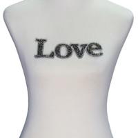 diseño de motivos para la ropa al por mayor-1 piezas de diseño de personajes de amor pegatina con cuentas Rhinestone hierro en parches motivos para la camiseta ropa para accesorios de costura T2325
