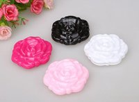 Wholesale Cheap Round Foldable - beautiful 3D Cute Rose Compact Cosmetic Mirror Foldable Makup Mirror Small Cheap Mirror MD51 FREE SHIPPING