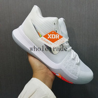 Wholesale Shining Pu Leather - Free Shipping 2017 Kyrie 3 Iridescent Swoosh Mens Basketball Shoes Kyrie 3 Time To Shine sneakers for sale size 7-12 Come With Box