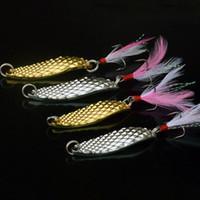 ganchos de oro de calidad al por mayor-Anzuelos de pesca de calidad superior Metal señuelo de la pesca Niza patrón Super Leech Señuelos oro cebo de aleación de zinc Sub portátil 2 6lg F1