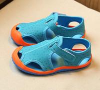 Wholesale Sandal Cutout - Jeff Store kids sandals children shoes Flats cutout Beach sandals