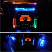 Wholesale Lamp Lighter - New Car Charge Cigarette Lighter 4 in 1 Colorful Car Interior LED Decoration Lamp Car LED Lights