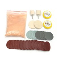 oxide glass - 34x Glass Polishing Kit OZ Cerium Oxide and Wheel Deep Scratch Remover