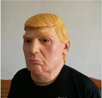 Wholesale Halloween Mask Latex Half Face - masquerade masks USA President Candidate Mr Trump Latex Face Mask Billionaire Presidential Donald Trump Overhead Mask Props Funny Mask Latex
