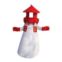 Lighthouse Monster Mascot Costumes Personaje de dibujos animados Adulto Sz 100% Real Picture