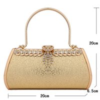 1pcs Handbags Evening Clutch Bags Diamond-Studded Evening sacos de diamante para mulheres Shoulder Bag Bolsas femininas Women's Evening Bag