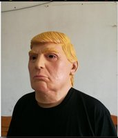 Wholesale Presidents Masks - USA President Candidate Mr Trump Latex mask Halloween Mask Latex Face Mask Billionaire Presidential Donald Trump Latex Mask