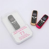 Wholesale Thin Bar Cell Phone - LONG-CZ T3 The Worid Smallest Thinnest Mini Phone bluetooth 3.0 dialer Phonebook SMS music sync FM magic voice cell phone