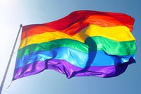 Wholesale Flags Wholesale - Rainbow Flags And Banners 3x5FT 90x150cm Lesbian Gay Pride LGBT Flag Polyester Colorful Rainbow Flag For Decoration b890