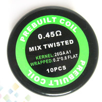 Wholesale free electronics for sale - Group buy Prebuilt Mix Twisted Coil Resistance ohm GA Resistance Wire Electronic Cigarette Sold by PC Heating wick DHL Free