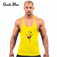 All'ingrosso-Gash Hao Intimo Maglia Corset Compression Singlet Tank Top Uomini Fitness Golds Palestre Workout Vest Uomini Ingegneri Cothing
