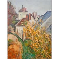 Wholesale Dr Painting - Modern paintings Landscapes House of Dr. Gachet-Paul Cezanne Canvas reproduction oil hand-painted
