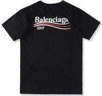 Wholesale Wave Logos - US Size 2017 Top Quality Paris Cole T Shirts Wave Print Men Women 100% Cotton Tops O-neck Short Sleeves Black White Logo Tee Blue T-shirt