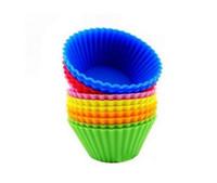 vaka yapıcısı toptan satış-Silikon Muffin Kek Cupcake Kupası Kek Kalıbı Vaka Bakeware Maker Kalıp Tepsi Pişirme Jumbo