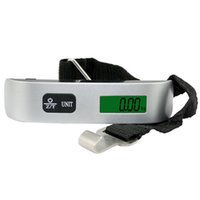 Wholesale Scale Kg - Wholesale-Useful Digital Display 2016 New Arrival 50 KG 10g Electronic Portable Digital Luggage Weight Hanging Scale Travel