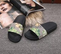 Wholesale sandals heels fabric flowered - 2017 mens and womens fashion causal slide sandanls adults tian blooms print flower slide sandals summer outdoor beach flip flops size