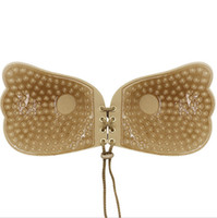 Wholesale Polka Dot Bras - Nubra Butterfly Wing Invisible Bra Self Adhesive Silicone Invisible bras Push-up Front Support Backless Strapless Rope for women summer