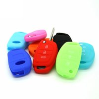 Wholesale Botton Bags - PP bag package Quality Mistar Elantar 3 botton Key Case Cover Remote Silicone key Shell Accessories Car Styling.