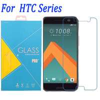 m7 bir film toptan satış-HTC ONE M10 için Temperli Cam Ekran Koruyucu Film HTC M9 Artı M7 M8 M10 E8 E9 A9 Cam filmi