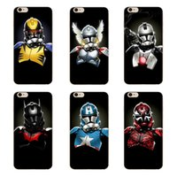 Wholesale Cool Cover Cases 4s - Cartoon cool mask hero pattern clear hard PC case for iphone 6 6s 7 Plus 4s 5c 5s SE transparent phone cover