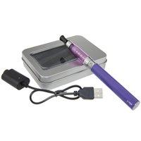 Wholesale Electronic Cigarette Box Aluminium - Aluminium Box Single Packing Colorful E-cigs 1100mAh Ego T Electronic Cigarette Kits CE5 1.6ML Atomizers EGO-T Battery