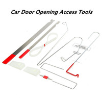 HOT 9 pcs Universal Car Lock Débloquer la porte Open Bump Wedges Emergency Bar Repair Tool Kit