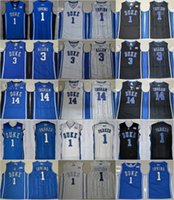 Wholesale Duke Blue - MENS Duke Blue Devils College Basketball Jerseys 1 Kyrie Irving 1 Jabari Parker 3 Garyson Allen 14 Brandon Ingram Stitched University Jersey