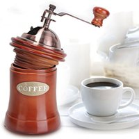 Wholesale Manual Noble Wooden Coffee Grinder Hand Coffee Grinder Household Mini Manual Coffee Mill Beans Nuts Grinder
