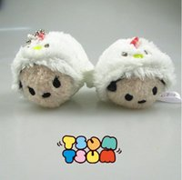 "Wholesale Stuffed Minnie - Top New 2 Styles 2.4""*1.6"" 6CM*4CM Tsum Tsum Chicken Mickey Minnie Stuffed Doll Smartphone Cleaner Pendants Party Gifts Soft Plush Toys"