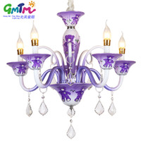 Wholesale Little Bear Lights - GMTM lighting suppliers Special offer creative cartoon bear 3 colors Purple pink blue chandeliers Hanging lamps for little boy