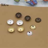 Wholesale Brass Filigree Beads - BoYuTe 500 Pcs 6 Colros 6MM 8MM 10MM Flower Bead Caps Wholesale Filigree Brass Material DIY Jewelry Findings