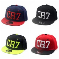 Wholesale Baseball Caps Kids Boys - Ronaldo CR7 Baseball Caps Cotton Cr7 Caps Snapback Hip Hop Fashion Hat kids Baloncesto Caps Bone Snapback Aba Reta Snap for children boys
