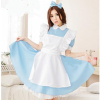 Алиса в стране чудес Cosplay Костюм Аниме Sissy Maid Uniform Sweet Lolita Dress Adult Halloween Costumes для женщин